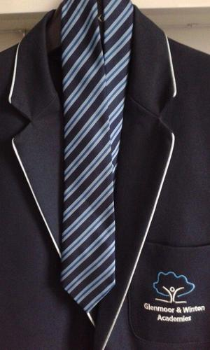 """Winton & Glenmoor Academies School Blazer & Tie In Exc Clean Cond Price & Buckland 40"""" Hardly Used"""