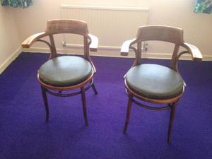 2 x Vintage Wooden Chairs for sale