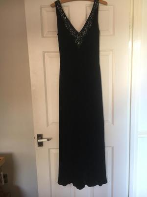 Austin Reed Black velvet size 14 Christmas party dress