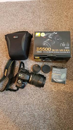 Nikon D DSLR Camera with mm VR lens