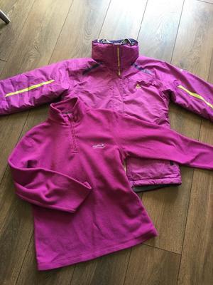 Womens Dare2be ski jacket and fleece, size 10