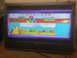 """toshiba 37""""; hd lcd widescreen tv with freeview and Remote Control"""