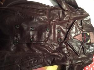 Ladies Brown Vintage Leather Jacket Size 10