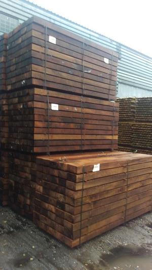 New Hardwood Pressure Treated Railway Sleepers
