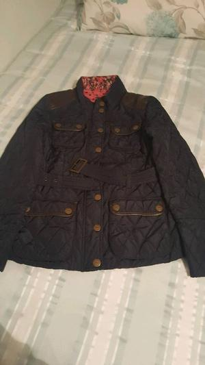 Next Girls Barbour styled jacket sized yrs