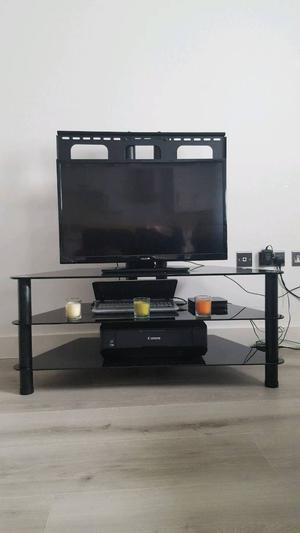 TV Stand with 3 Glass Shelves