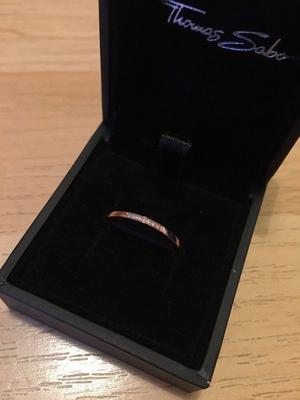 Thomas Sabo Glam & Soul Rose Gold Plated Diamond Ring NEVER WORN
