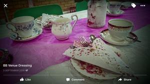 Vintage tea party cups saucers plates tea pots