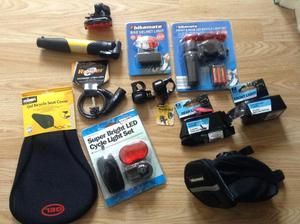 Cycle accessories lights,lock etc