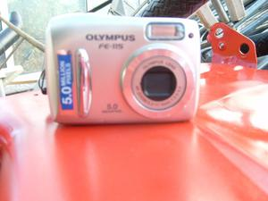 Olympus FE-115 Digital Camera body with carrying strap