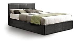 Bed DOUBLE LEATHER BED AND MATTRESS AND STORAGE bed