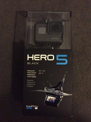Go Pro Hero 5 Black Brand new Boxed + Accessories (price negotiable)
