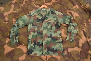 Serbian Army Issue Camouflaged Combat Shirt, (Size Large)