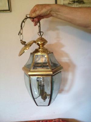 2 Brass Pendant Lights