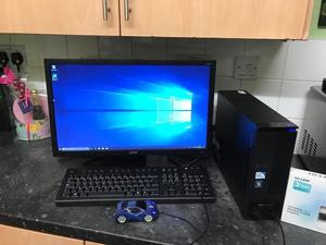 Acer Aspire X mini desktop pc and Acer V226QHL monitor