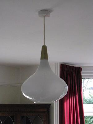 Art Deco Milk Glass Lampshade