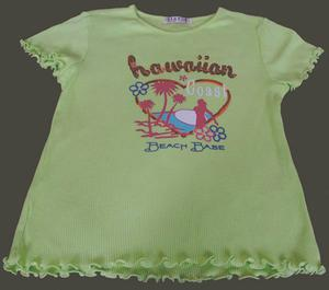 BEAUTIFUL GIRLS LIME GREEN SUMMER TOP AGE 8/9YRS