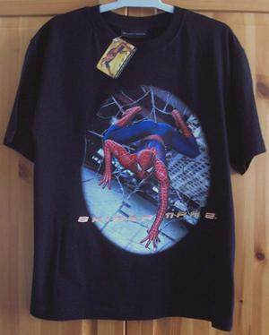 BNWT BLACK SPIDERMAN 2 T SHIRT - AGE  YRS