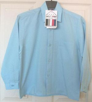 BNWT BOYS PALE BLUE SCHOOL SHIRT - AGE 5/6 YRS B11