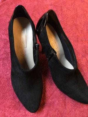 Black suede shoe