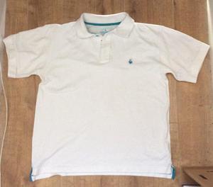 Boys Le Coq Sportif White Polo Shirt Size XLB