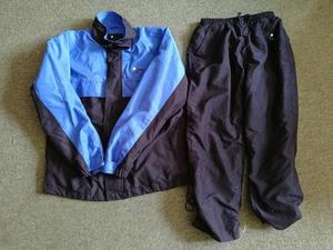 Boys waterproof golf jacket and trousers