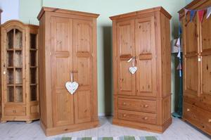 DELIVERY OPTIONS - £225 EACH - 2 MATCHING PINE WARDROBES