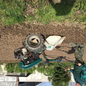 Diesel garden rotavator