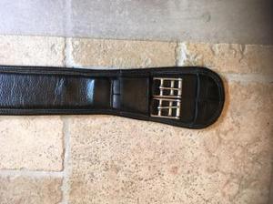 """El Caballo De Espana Black soft Leather Dressage Girth 28"""""""