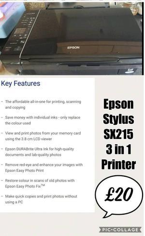 Epson Stylus SX in 1 printer