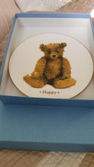 "Fine bone china plate from ""the ultimate teddy bear collect"