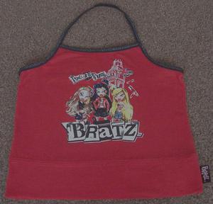 GIRLS RED HALTERNECK TOP BY BRATZ - AGE 6/7 YRS