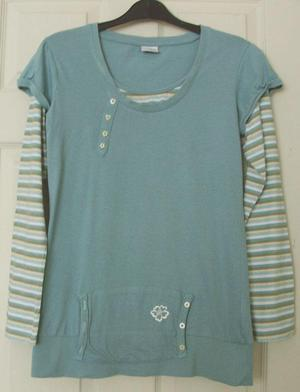 GIRLS STRIPED LONG SLEEVE TOP BY NEXT AGE 14 YRS B20