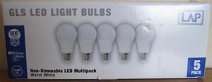 GLS LED Light Bulbs x 5, NEW