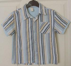 GORGEOUS BOYS BLUE STRIPE SHIRT BY TINY TED - AGE  MTHS