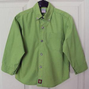 GORGEOUS BOYS LIME GREEN SHIRT BY TESCO - AGE 2/3 YRS
