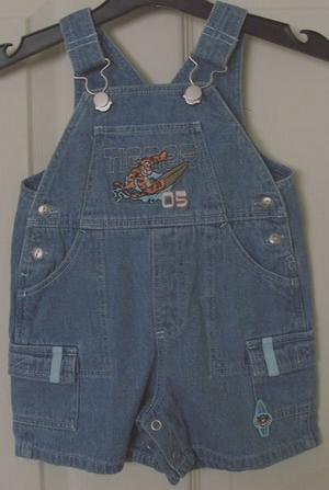 GORGEOUS DENIM TIGGER DUNGAREES BY GEORGE - AGE 0-3M