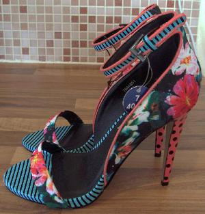 Ladies new limited edition flowered heels by atmosphere sz 7