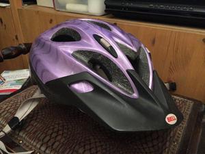 Ladies purple Bell cycle helmet
