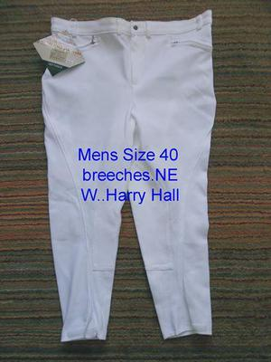 NEW Harry Hall mens size 40 white breeches. Good quality