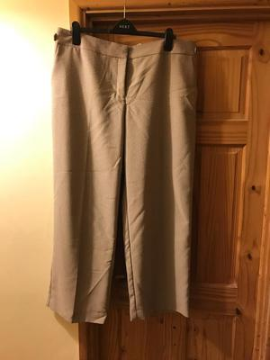 Next tailored natural trousers