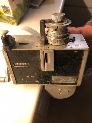 Old bus ticket machine