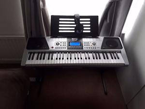 RockJam RJ Key Electronic Piano Keyboard with Stand and Headphones [no stool]