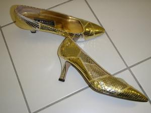 SHOES - new silver/gold snake skin size 7