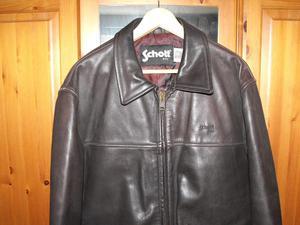Schott NYC brown leather jacket.