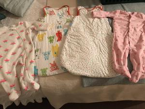 Sleep suits and grow bags