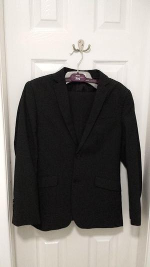 Soon to be rare BHS flipback boys pin striped black suit
