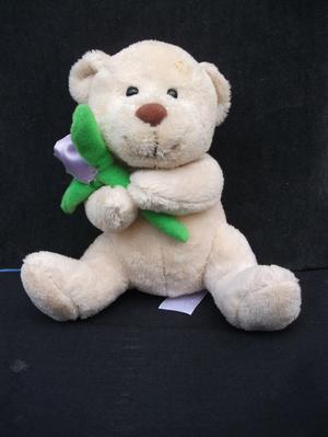 TESCO TEDDY BEAR WITH FLOWER*