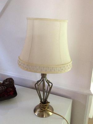 Table lamp with cream lampshade