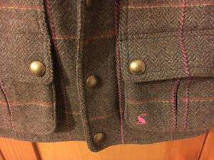 Tiny Joules Tweed Field Coat Girls age 3